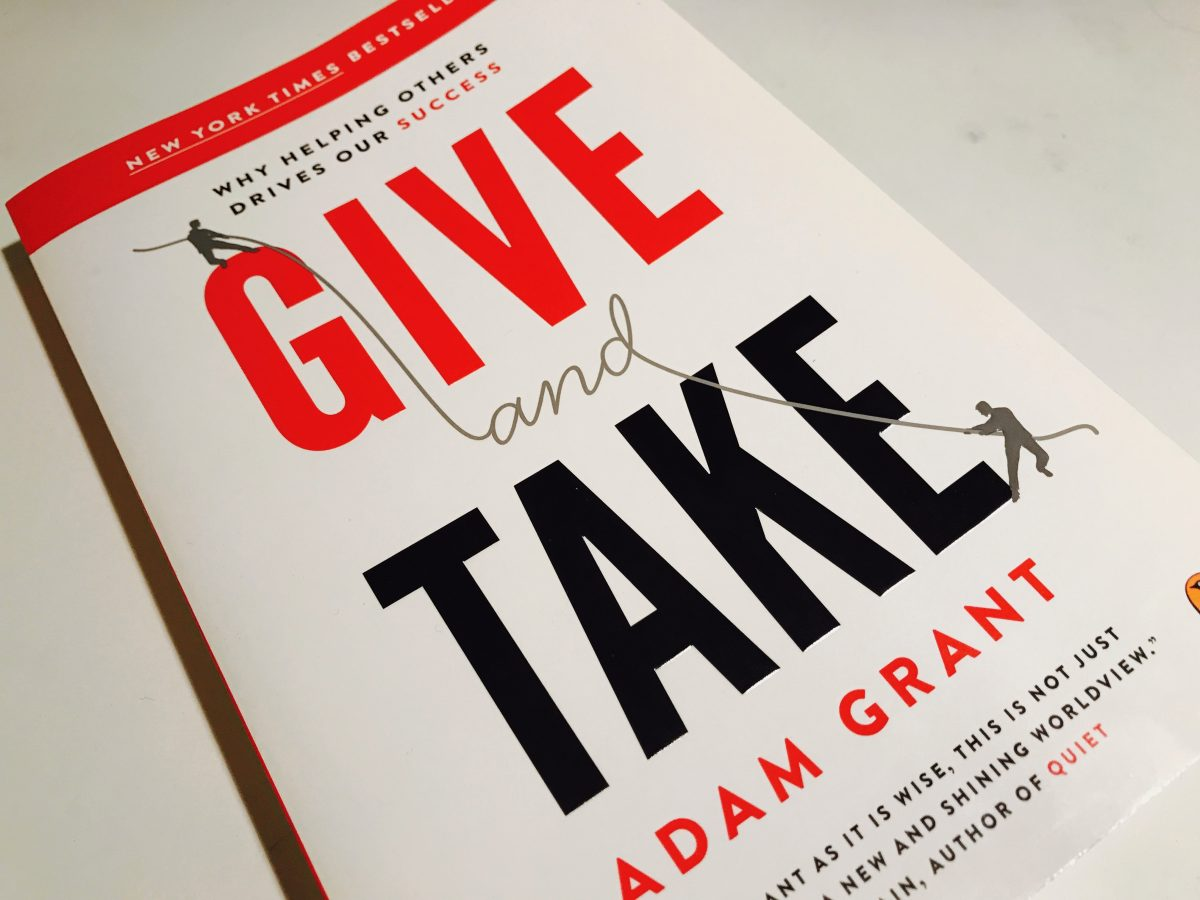 """The book """"Give and Take"""""""