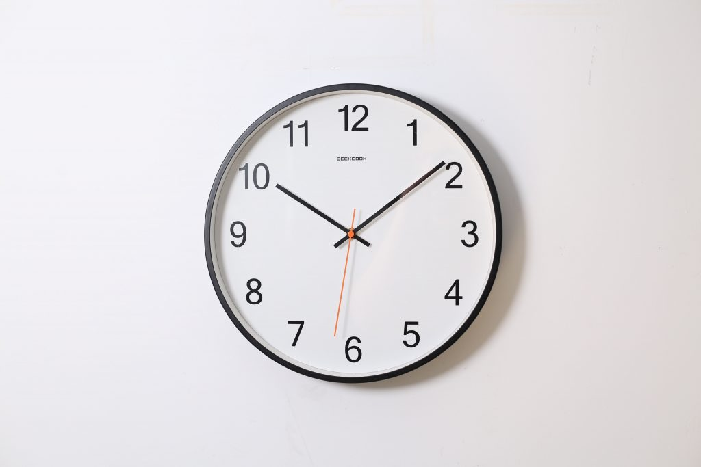 Photo of a clock showing way more than the needed five-minutes for a favor