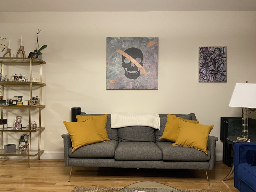 our couch and the art above it
