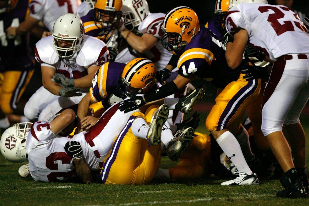 Scrum on a football field