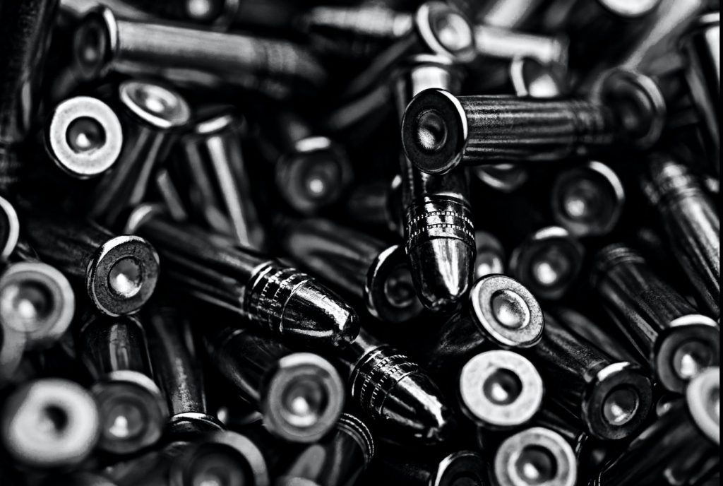 a pile of silver bullets